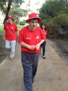 George walking around Tomato Lake