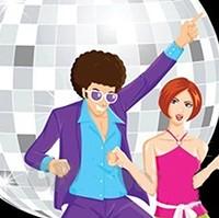 Glitterball and dancers