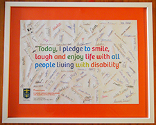 Bettina's artwork created from student pledges.