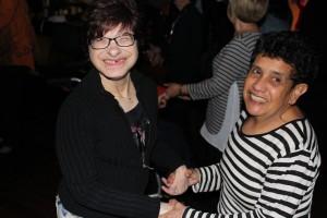 House buddies, Teresa and Joanne having fun at the Disco.