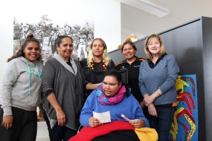 Rikeesha with members of the Moorditj Yarning group