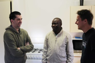 L to R: Luke (Shares an Identitywa home), James and Support Worker, Tom.