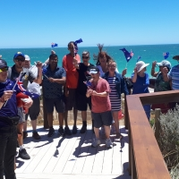 Friends together on Australia Day
