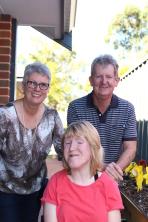 Ellen with her mum and dad
