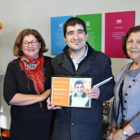 Simon with CEO, Marina Re (left) and his mum, Maria (right).